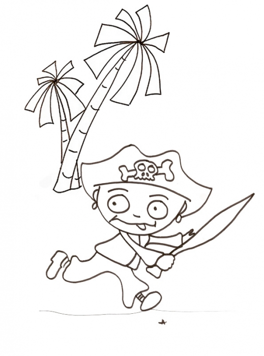 coloriage imprimer le coloriage du pirate qui court