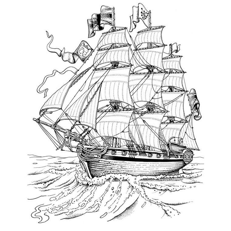 le coloriage bateau capitaine crochet pour imprimer le coloriage