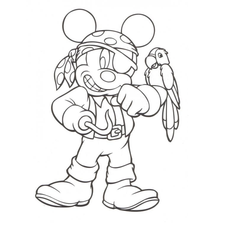 le coloriage mickey pirate pour imprimer le coloriage mickey pirate