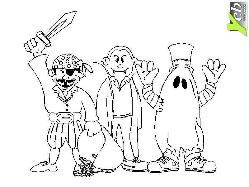 coloriage le pirate, dracula et le fantôme dans la catégorie