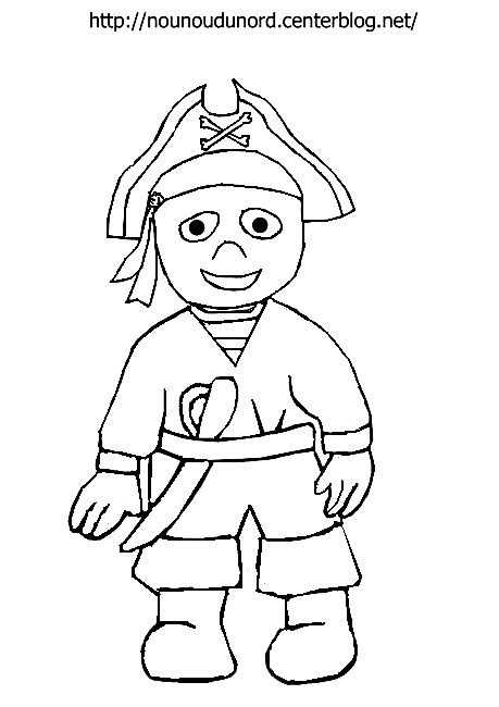 coloriage pirate dessiné