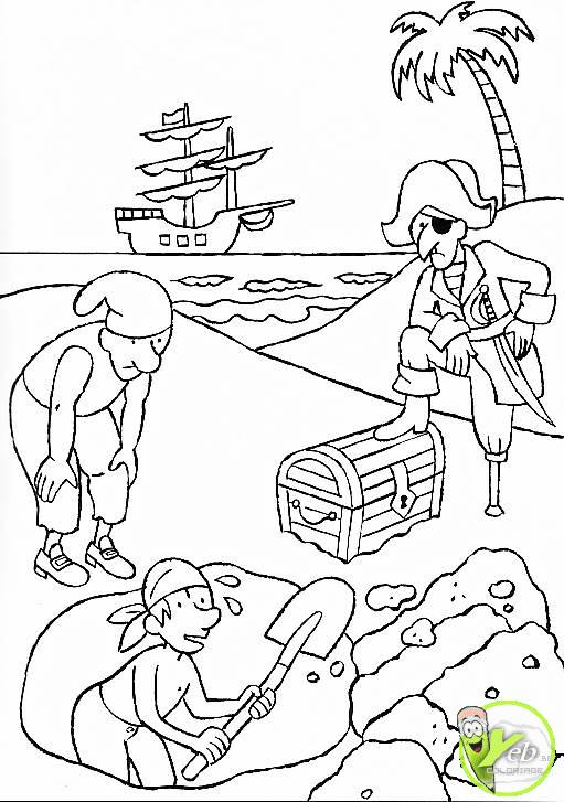 yeb.be   coloriage images   coloriage le tresor des pirates des