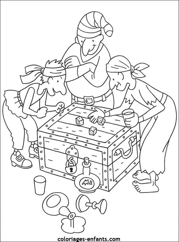 coloriage de pirate coloriage