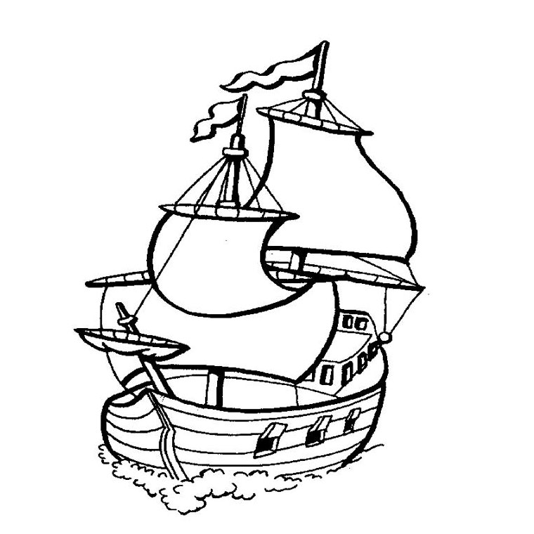 coloriage bateau pirates des caraïbes a imprimer gratuit
