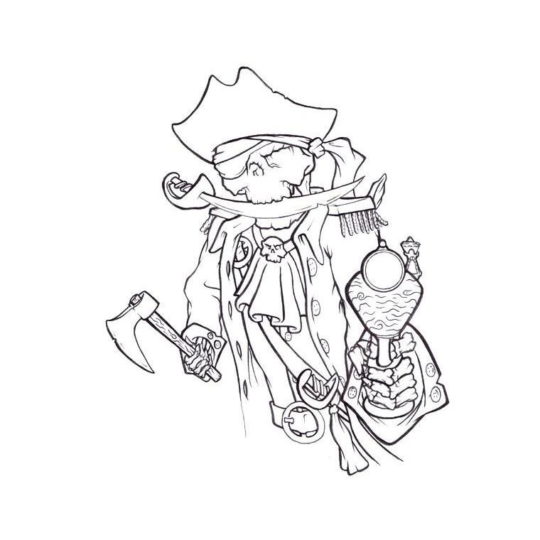 coloriage squelette pirate pour imprimer le coloriage squelette pirate