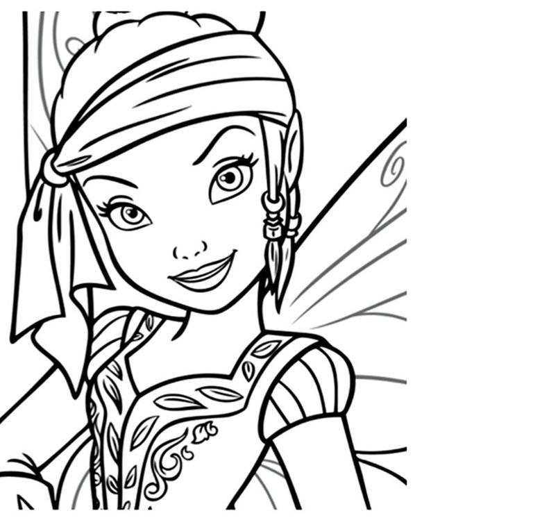 coloriage fée clochette et les pirates disney