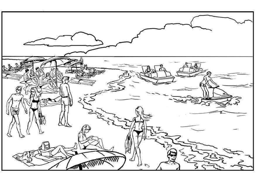 plage coloriage dessin gratuit à colorier site