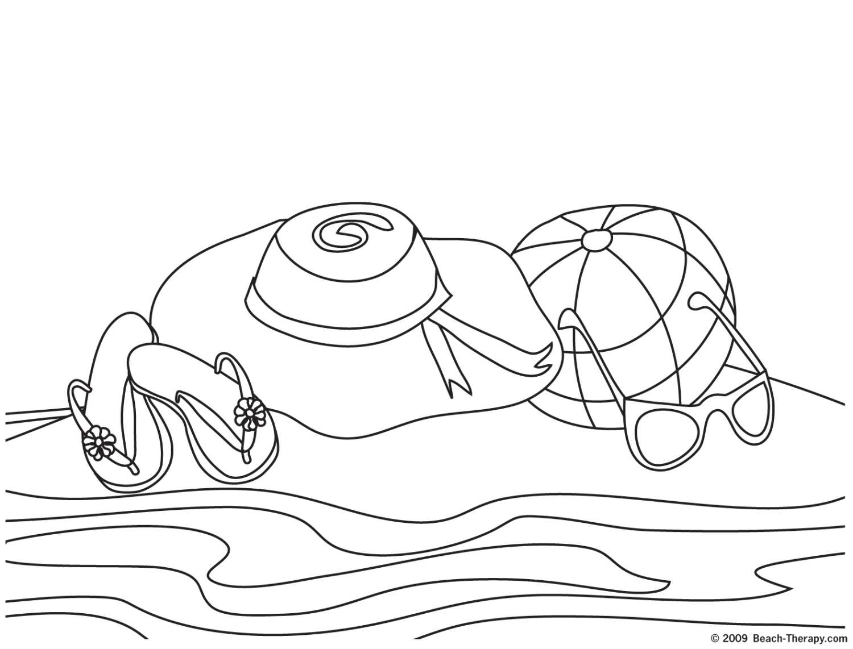plage dessin à colorier easy