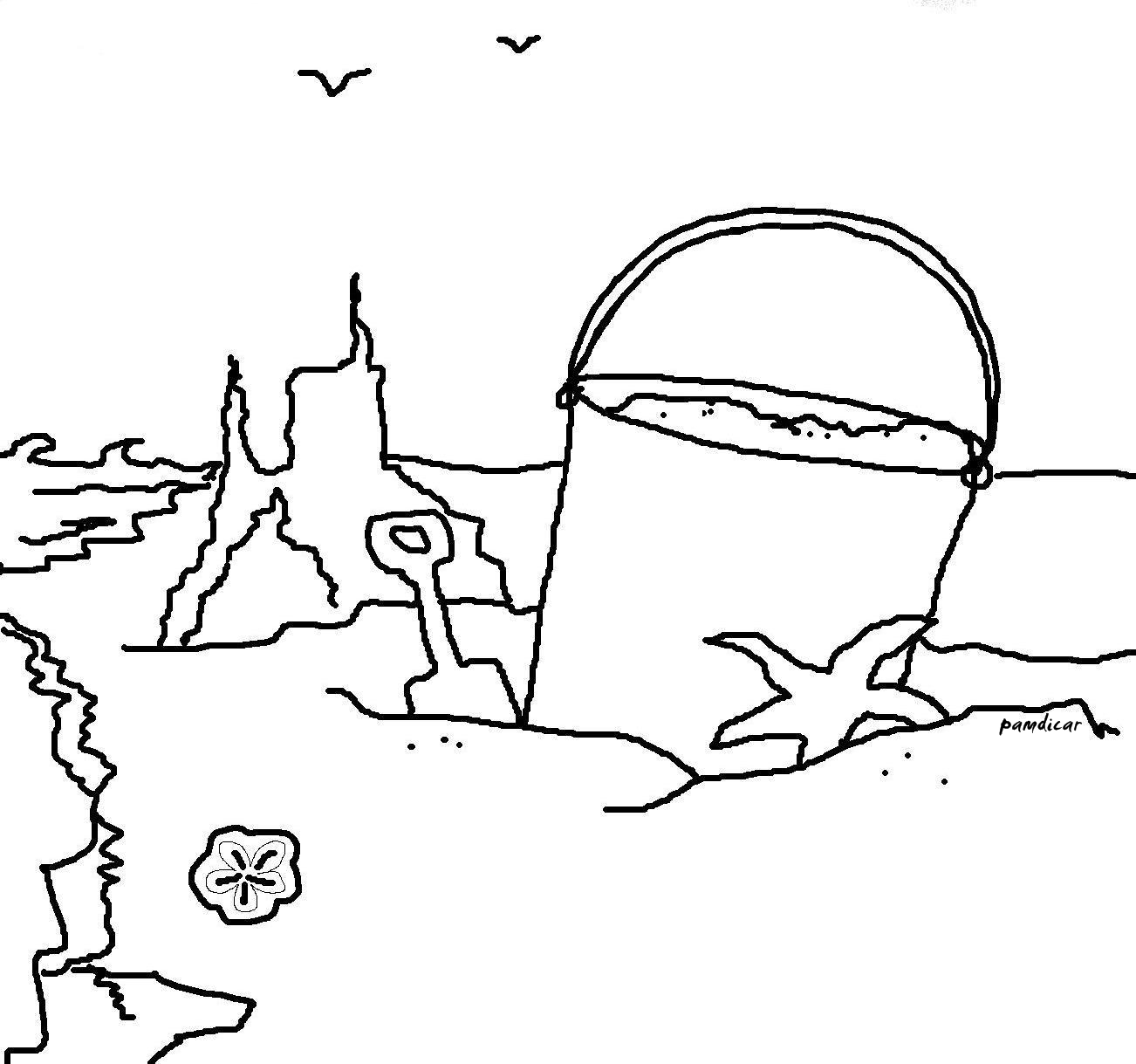 56 dessins de coloriage plage imprimer sur page 4 - Coloriage plage ...
