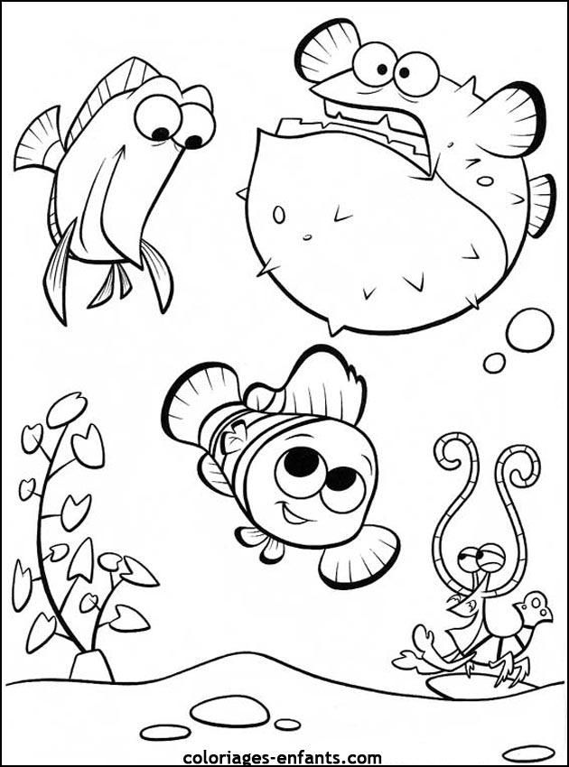 dessin gratuit poisson a imprimer