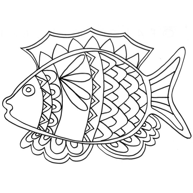 dessin de poisson a imprimer