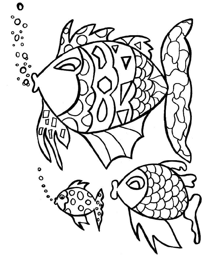 Coloriage de poisson a colorier
