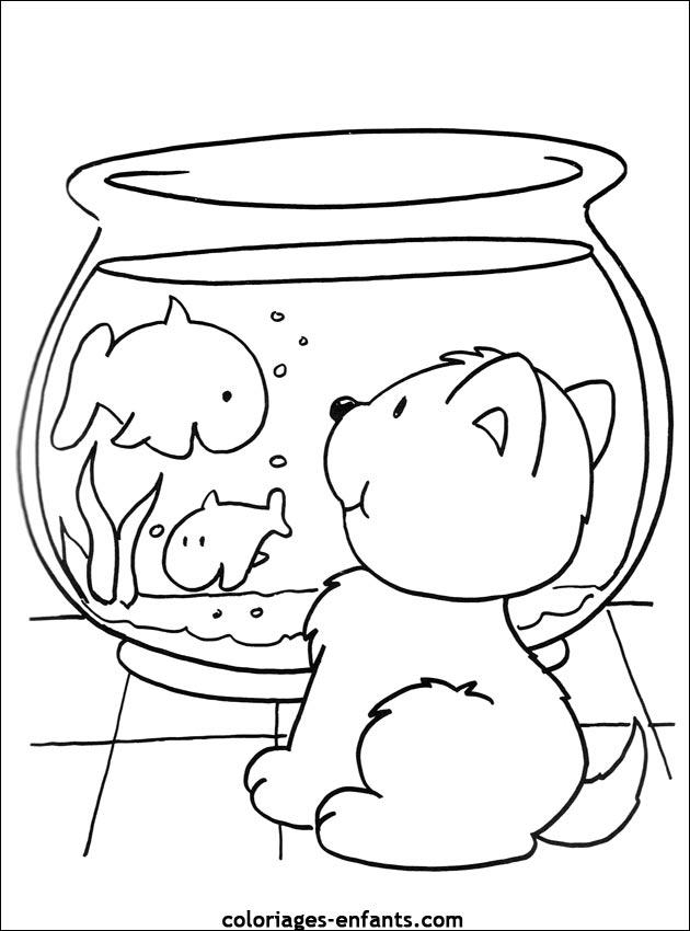 dessin de poisson coloriage de poissons imprimer