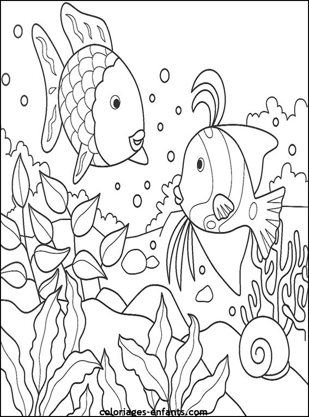 coloriage de poisson a imprimer