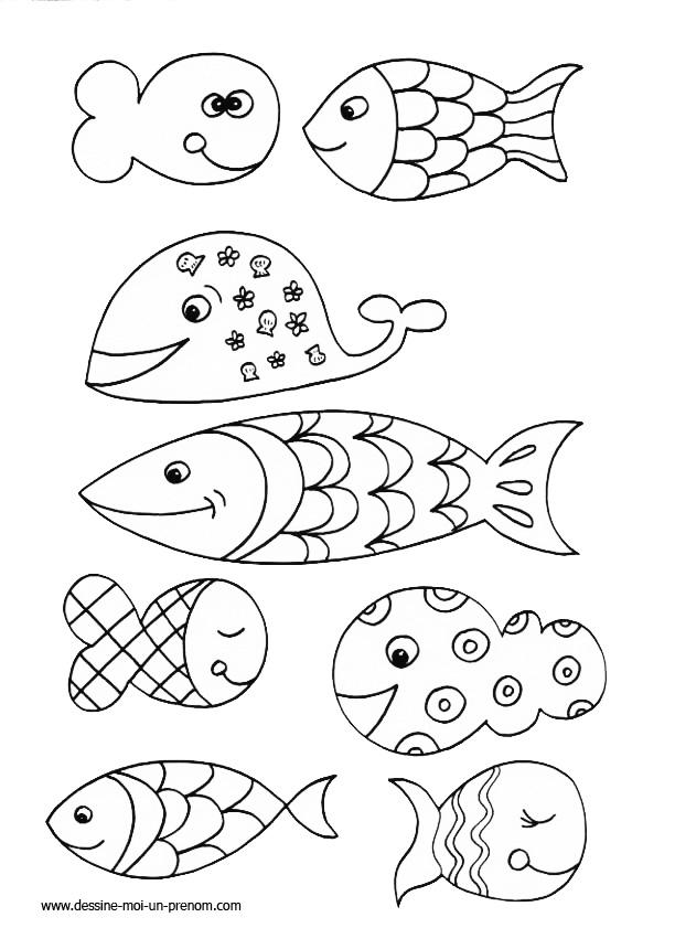 S lection de coloriage poisson d 39 avril imprimer sur - Dessin de poisson ...