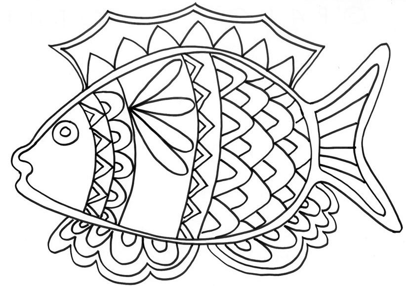 dessin 10864 coloriage de poisson davril imprimer
