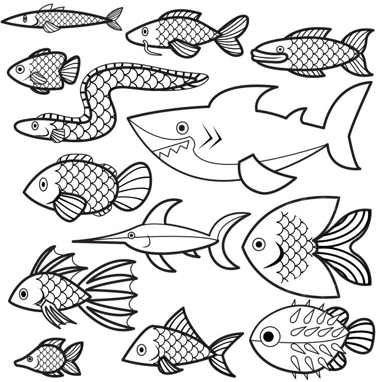 dessin 10868 dessin gratuit de poisson davril a imprimer et colorier
