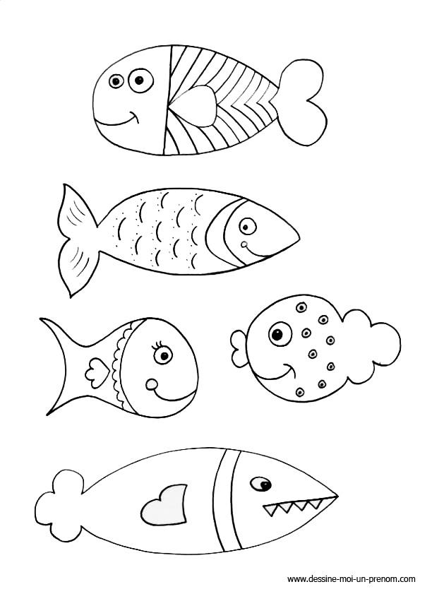 S lection de coloriage poisson d 39 avril imprimer sur page 1 - Dessin poisson d avril rigolo ...