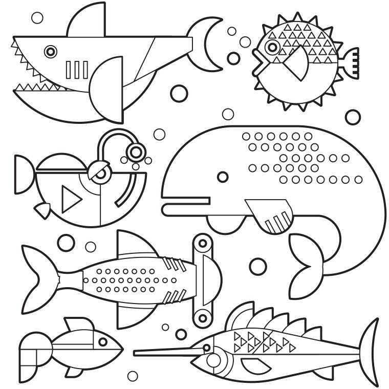 S lection de coloriage poisson d 39 avril imprimer sur page 3 - Dessin poisson d avril rigolo ...