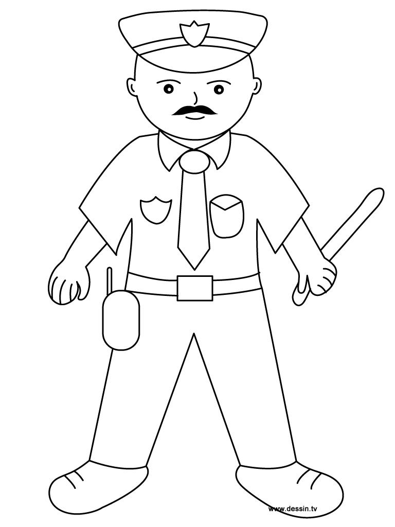 S lection de dessins de coloriage police imprimer sur page 2 - Police coloriage ...