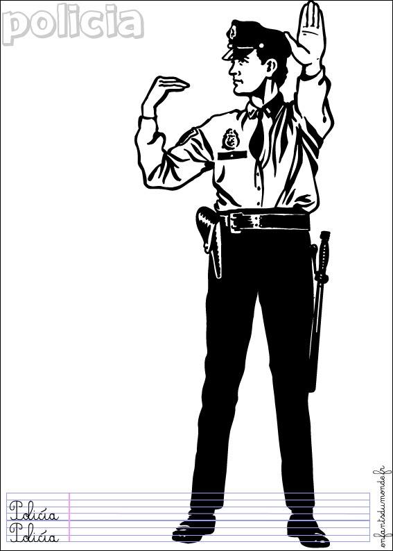 dessin 14688 dessin gratuit de police a imprimer