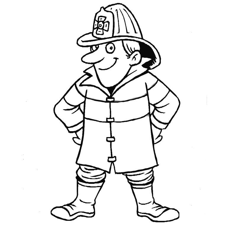 S lection de dessins de coloriage pompier imprimer sur page 1 - Pompier dessin ...