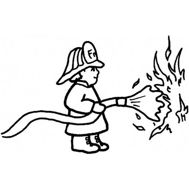 s lection de dessins de coloriage pompier imprimer sur page 1. Black Bedroom Furniture Sets. Home Design Ideas