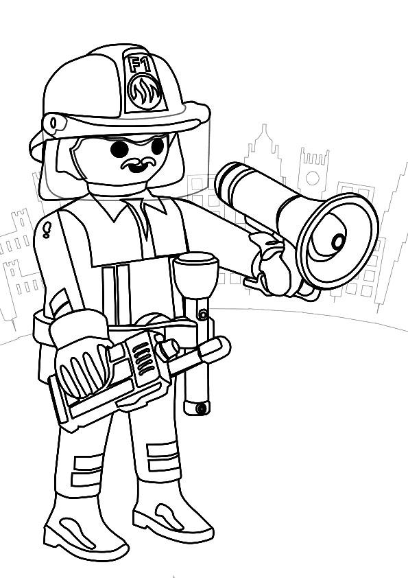 S lection de dessins de coloriage pompier imprimer sur page 2 - Dessin pompier a imprimer ...
