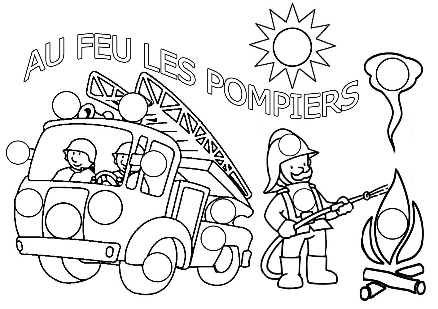 S lection de dessins de coloriage pompier imprimer sur page 4 - Coloriage de sam le pompier a imprimer ...