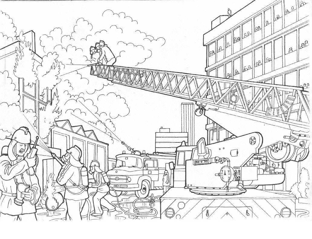 S lection de dessins de coloriage pompier imprimer sur - Pompier coloriage ...