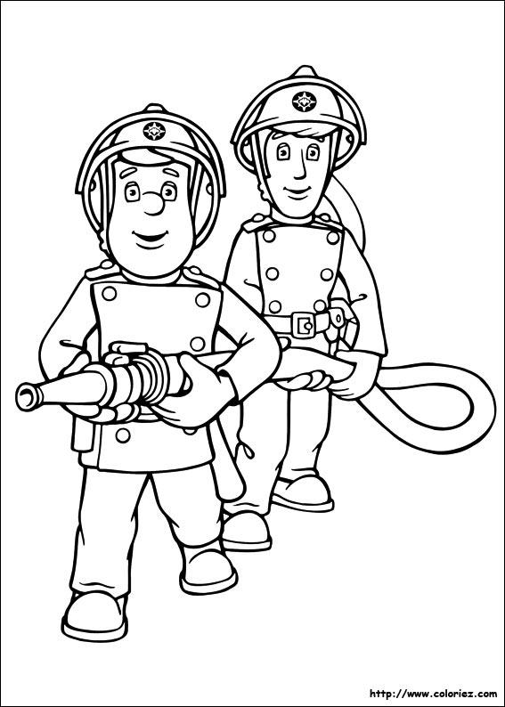 s lection de dessins de coloriage pompier imprimer sur page 5. Black Bedroom Furniture Sets. Home Design Ideas