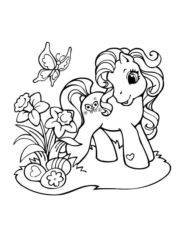 Coloriage204 coloriage imprimer poney - Coloriage poney en ligne ...