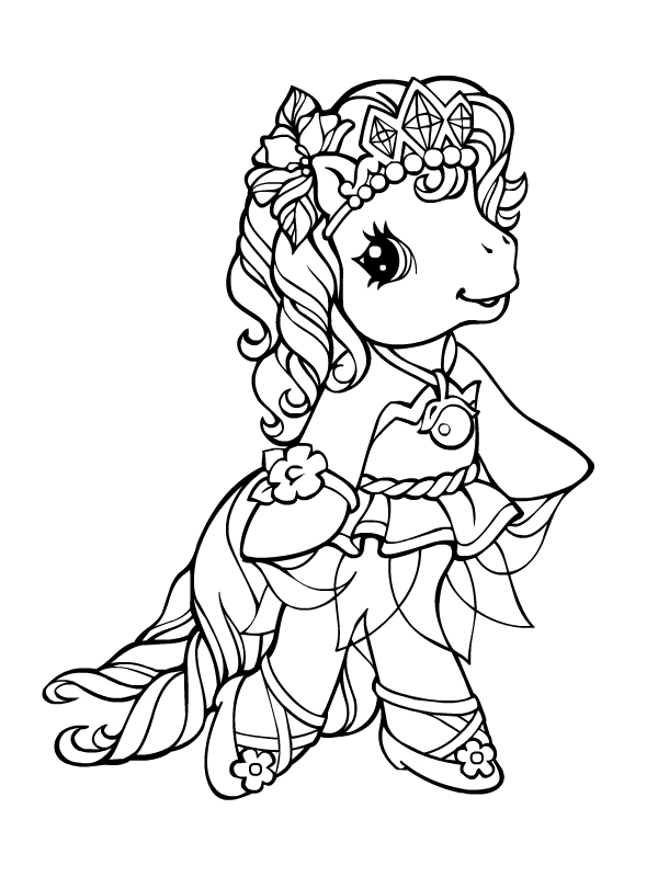 mlp g3 ballet coloring pages - photo#5