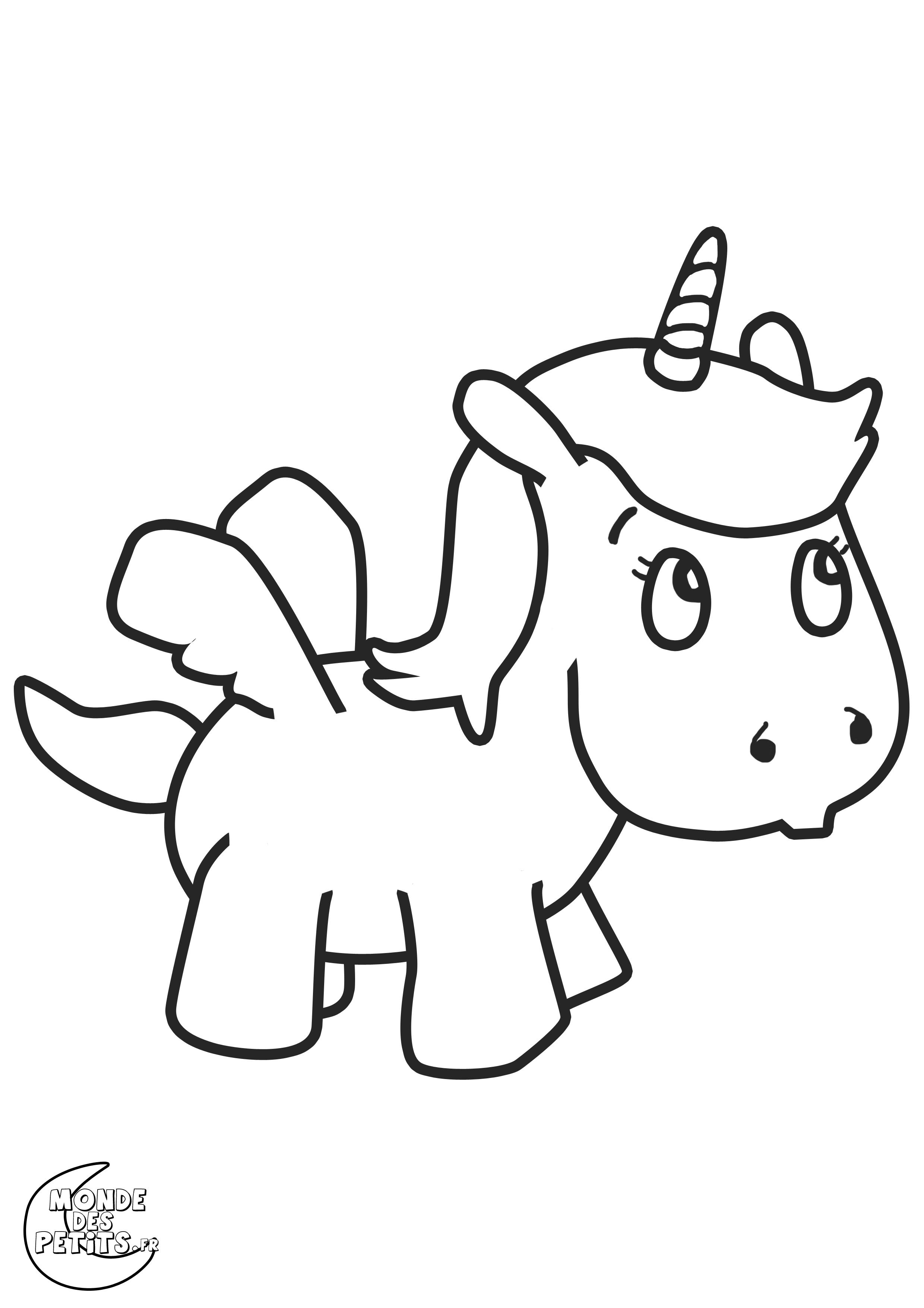 Dessin de poney pour imprimer et colorier