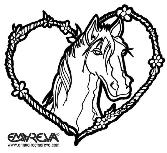 dessin de poney gratuit a imprimer et colorier