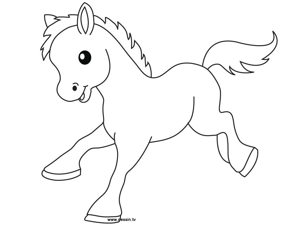 dessin de poney gratuit imprimer et colorier