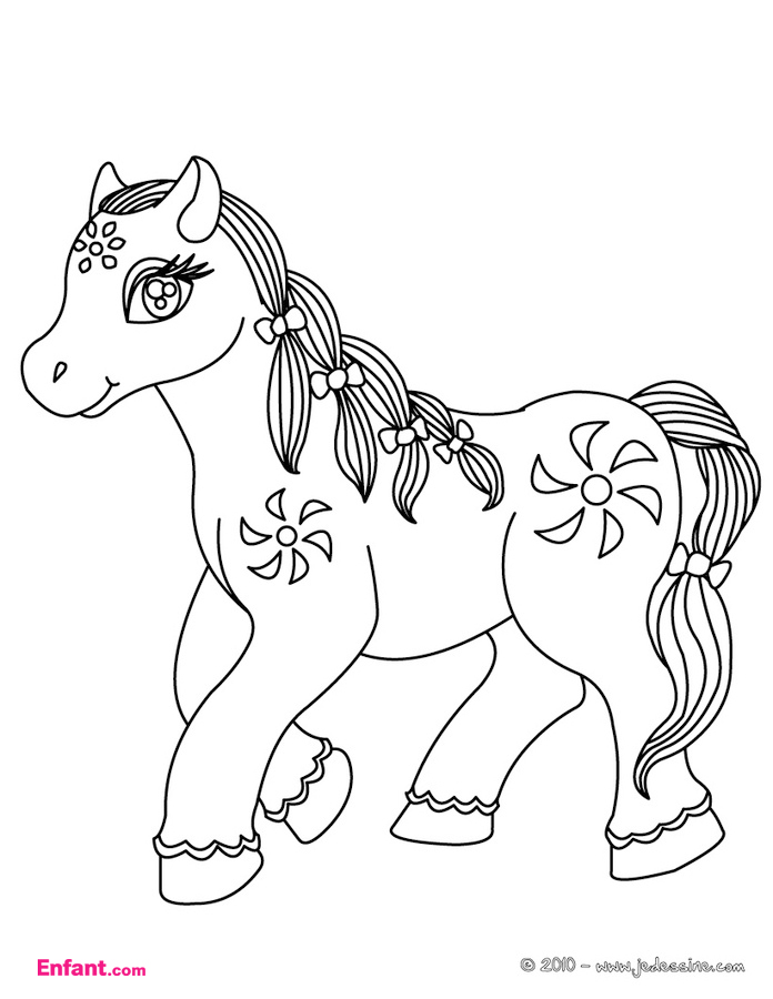 Fabuleux 149 dessins de coloriage poney à imprimer sur LaGuerche.com - Page 12 HS52