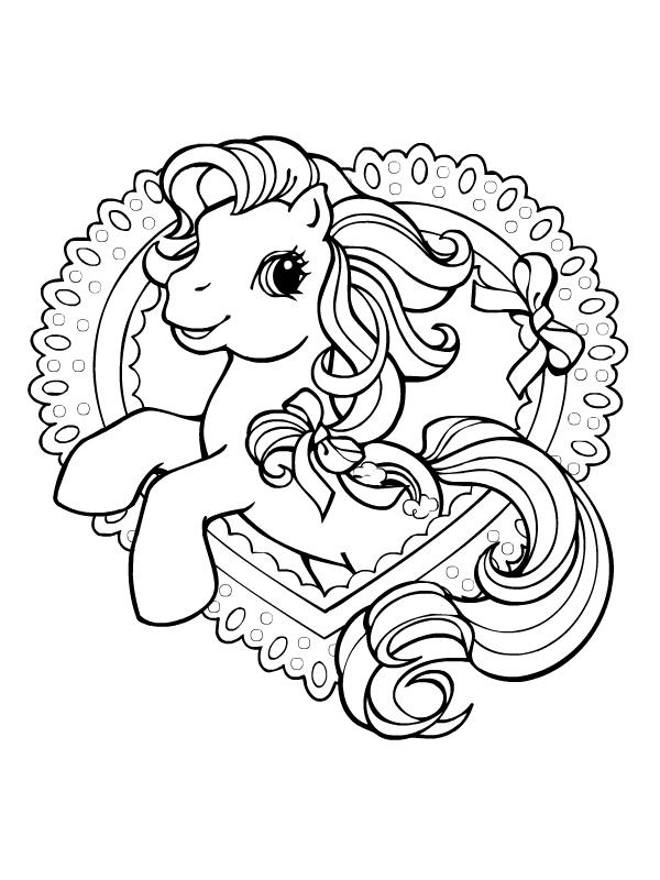 coloriage de poney