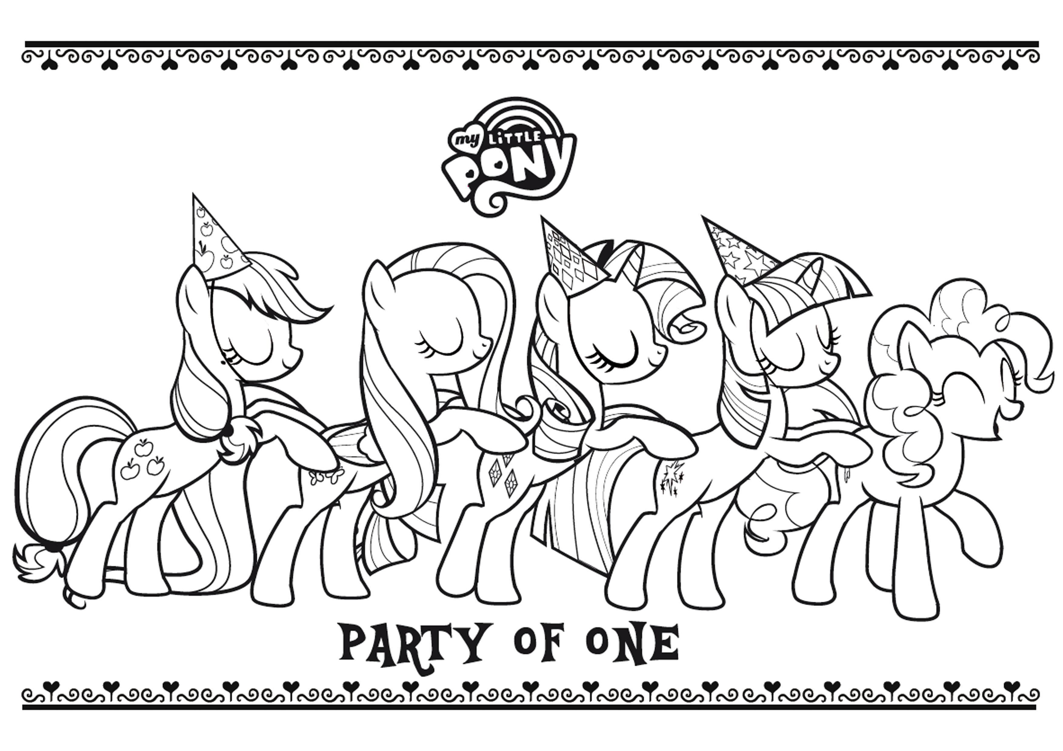 Nouveau Dessin De My Little Pony A Imprimer