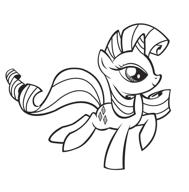 Dessin petit poney - Coloriage poney ...