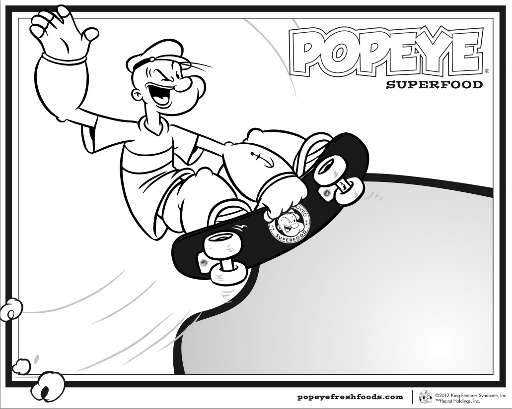 popeye coloriage