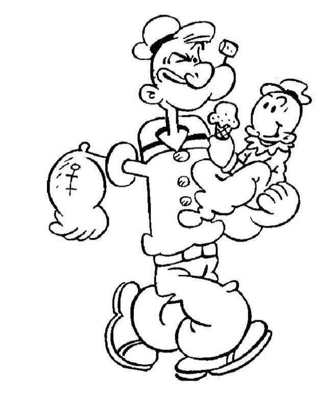 dessin de popeye pour enfant