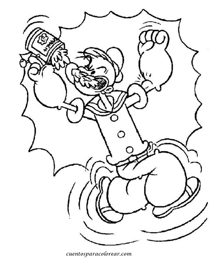coloriage popeye