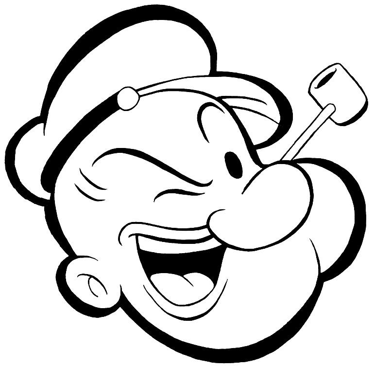 popeye logo dessin à colorier