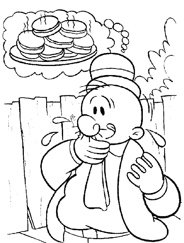 dessin à colorier of popeye the sailor man popeye coloriage book