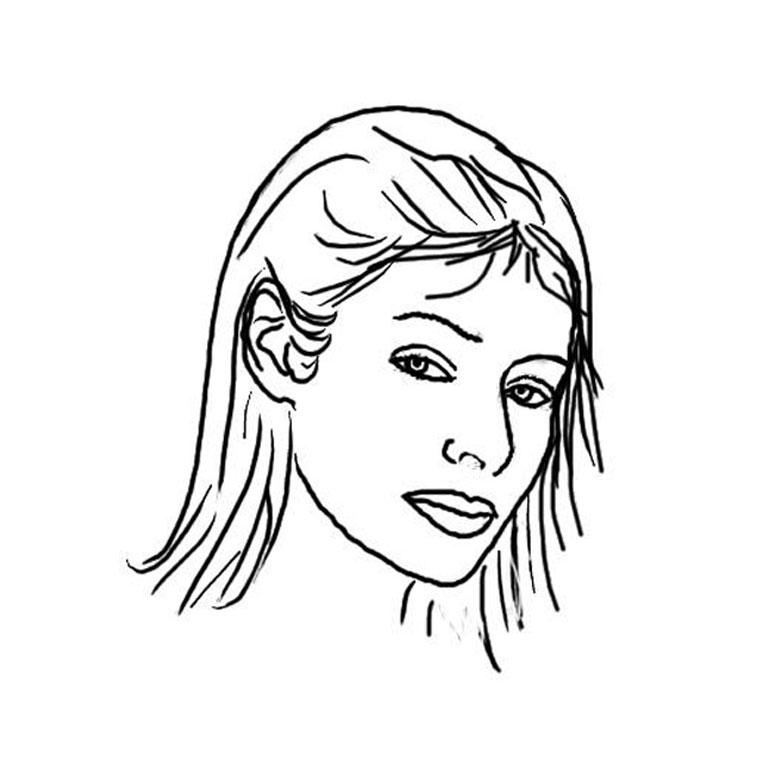 Populaire 35 dessins de coloriage portrait à imprimer sur LaGuerche.com - Page 3 NS09