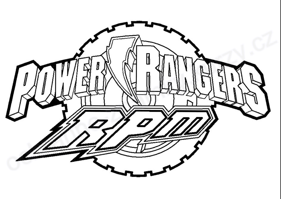 coloriage power rangers rpm