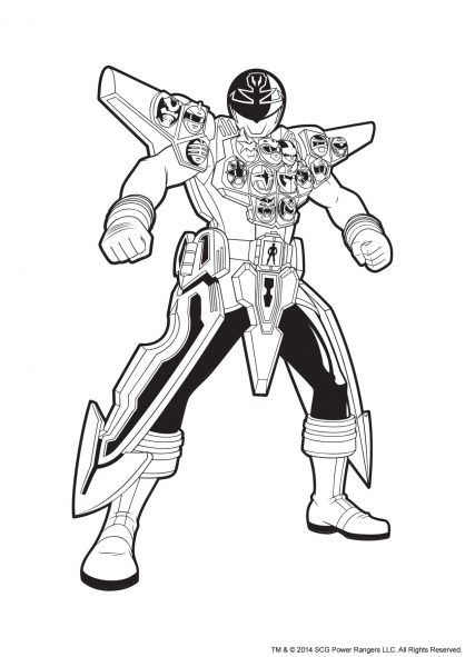 , images & photos pour coloriage power rangers megaforce