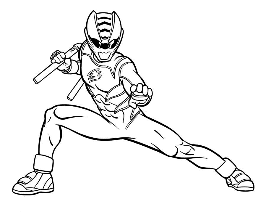 power ranger coloriage