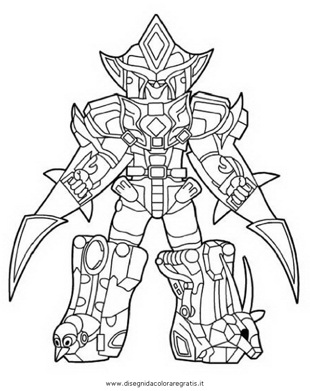 & photos pour coloriage power rangers samurai megazord